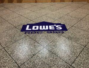 Floor graphics Waterloo, Iowa